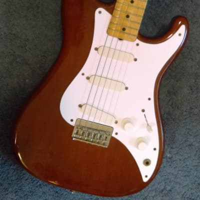 Video 1981 1982 Fender Bullet S3 Deluxe in Walnut w Original Hard Case Rare Color Mojo for sale