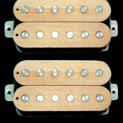 GuitarHeads LUMBERBUCKER Wood Top Humbucker Pickups - Bridge/Neck Set of 2 - MAPLE
