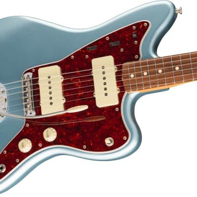 Fender Vintera '60s Jazzmaster Electric Guitar, Pau Ferro Fingerboard, Ice Blue Metallic W/Bag for sale