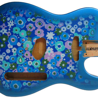 NEW Fender Lic Telecaster BODY for Fender Tele Guitar Blue Flower Floral TBF-BF image