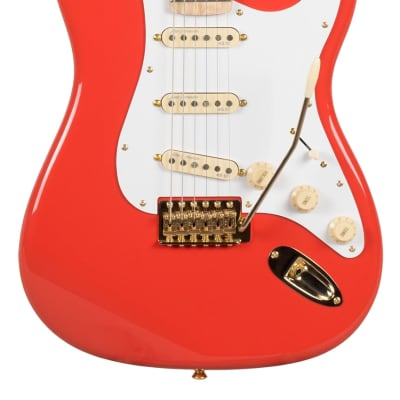 Revelation RSS Fiesta Red Electric Guitar Flame maple neck for sale