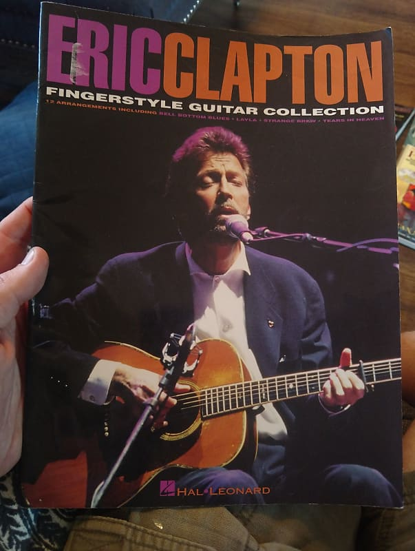 eric clapton fingerstyle guitar tab book reverb. Black Bedroom Furniture Sets. Home Design Ideas