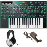 Roland AIRA System-1 Plug-out Synthesizer Keyboard + Sustain Pedal + Headphones