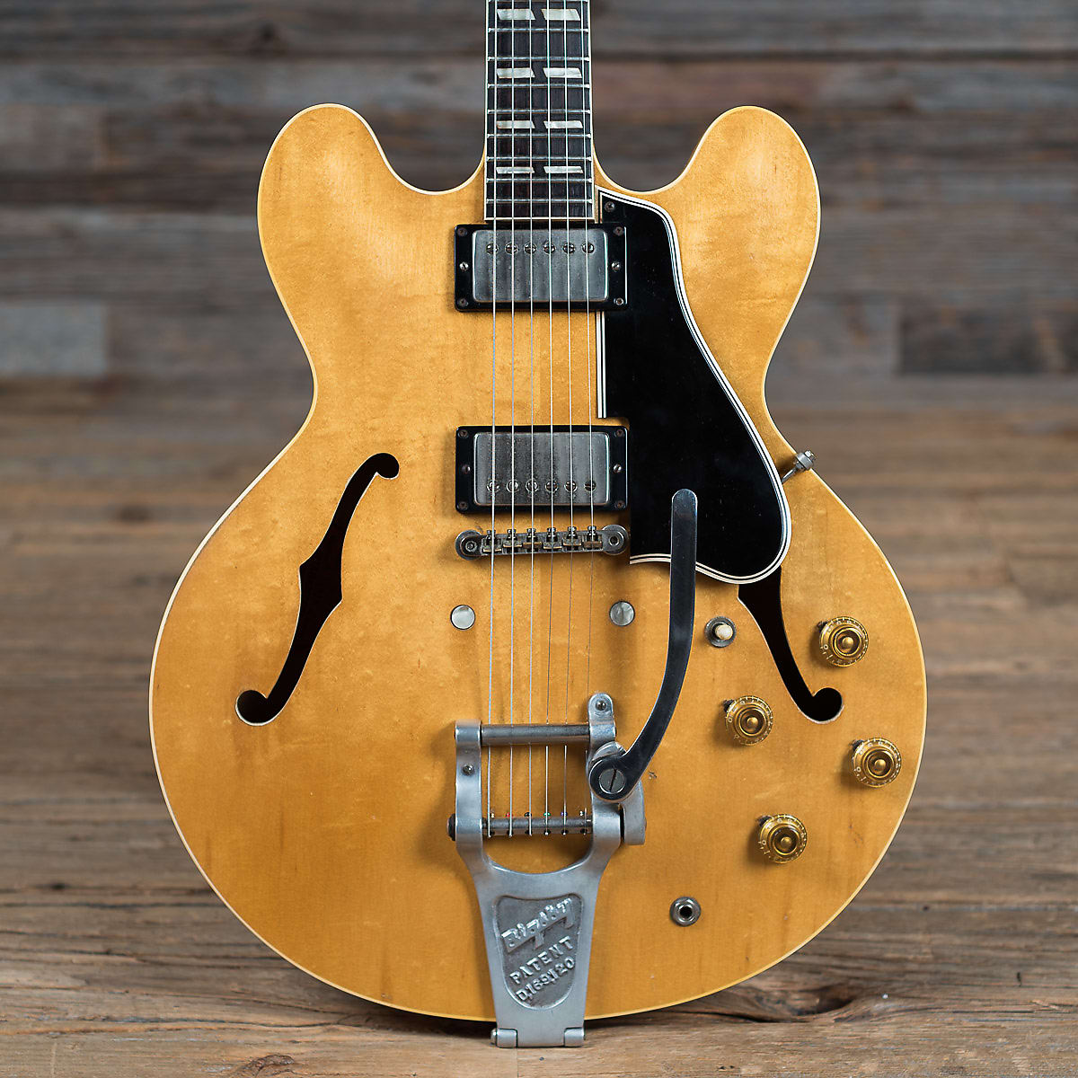 Gibson ES-335TDN with Custom Factory Split Parallelogram Inlays and Bigsby Natural 1960
