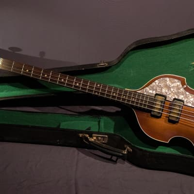 1961 Hofner 500/1 Violin Bass Sunburst, Original Case, *100% McCartney specs, (right handed).