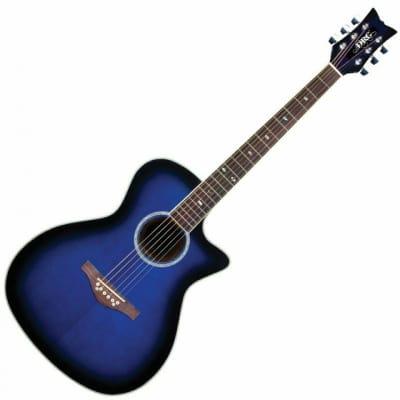Daisy Rock DR6278 Acoustic Electric Guitar - Royal Blue Burst for sale