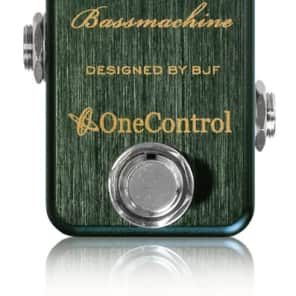 One Control Hooker`s Green Bassmachine BJF Series FX Bass Preamp Guitar Effects Pedal for sale