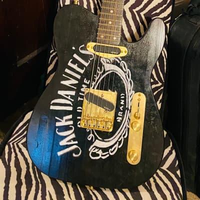 Outlaw Guitar Co. - Jack Daniels Tribute Ebonized Pine Baritone Telecaster
