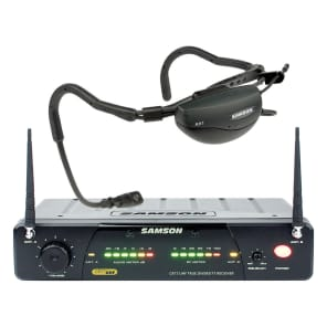 Samson Airline 77 True Diversity UHF Wireless Fitness Headset Mic System - Channel N2 (642.875 MHz)