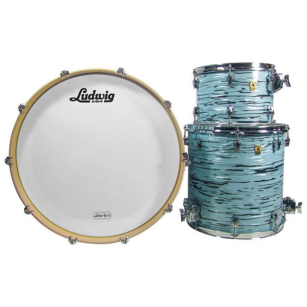 ludwig usa keystone turquoister 3 pc drum kit w drum heads reverb. Black Bedroom Furniture Sets. Home Design Ideas