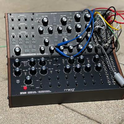 Moog Sub Harmonicon and DFAM with 2-Tier Rack Bundle and MIDI to CV