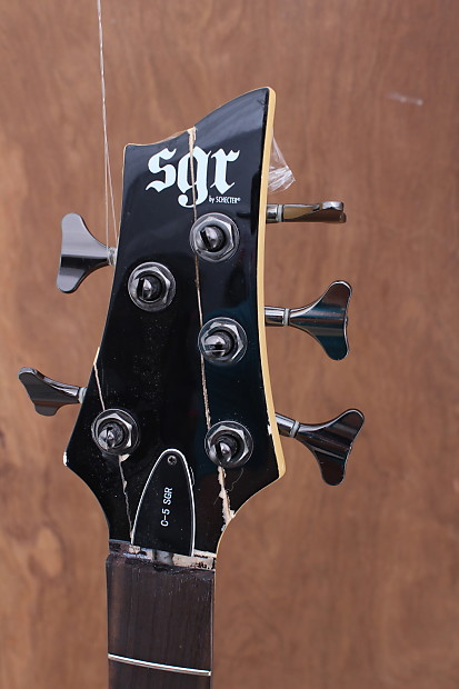 schecter sgr 2013 black 5 string electric bass guitar w reverb. Black Bedroom Furniture Sets. Home Design Ideas