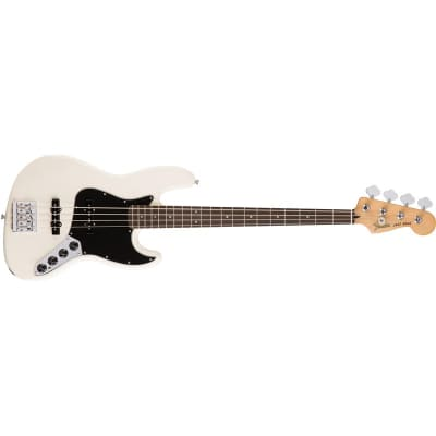 Fender Deluxe Active Jazz Bass Olympic White for sale