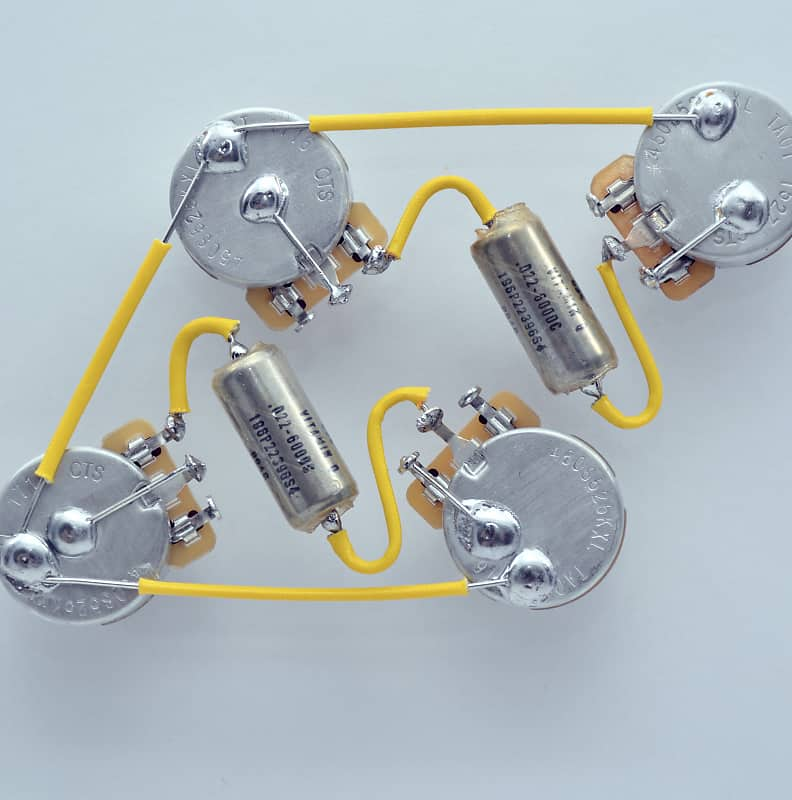 Les Paul ® Type Wiring Harness by JEL - 525k CTS Long Shaft | Reverb