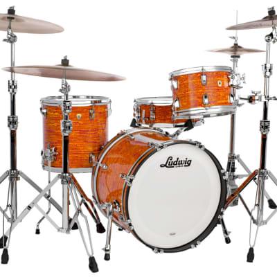 Ludwig Classic Maple Downbeat Drum Set Mod Orange