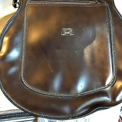 Manny's  Brown Faux Leather Gig Bag .. From the Legendary Manny's Music  1960-1970s Brown with Green