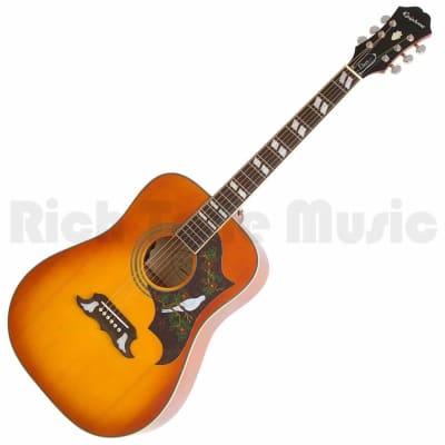 Epiphone Dove Pro Acoustic Electric Guitar - Violin Burst for sale