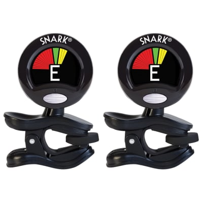 2 Pack Snark SN-5X Acoustic, Electric Guitar Bass Violin Clip-On Chromatic Tuner