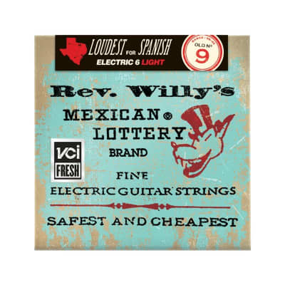Dunlop Rev. Willy's Lottery Brand Strings 09-42