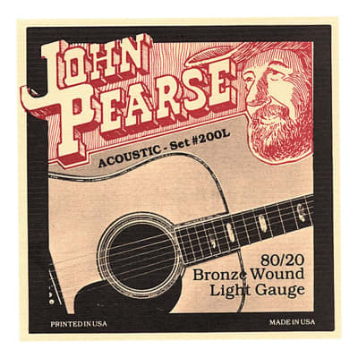 John Pearse 200L Acoustic Strings - 80/20 Bronze / Light Gauge for sale