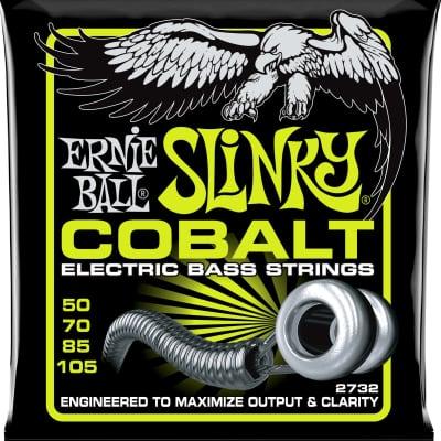 Ernie Ball 2732 Regular Slinky Cobalt Electric Bass Strings - 50-105 Gauge