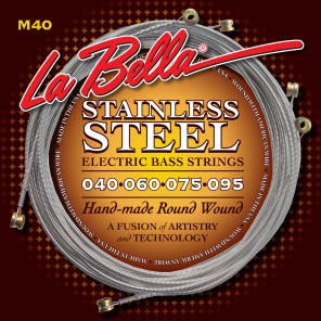 La Bella M40-S Stainless Steel Round Wound Bass Strings - Extra Light (40-95)