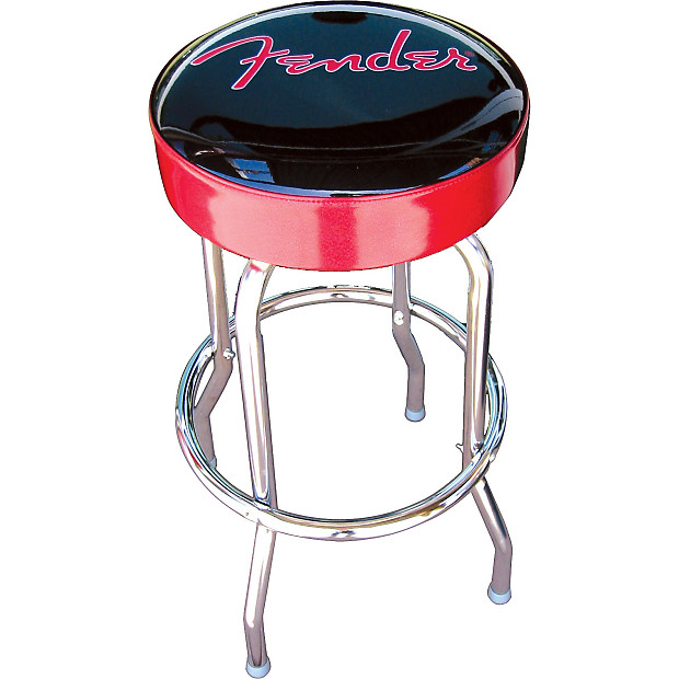 Fender 24 Inch Black And Red Bar Stool