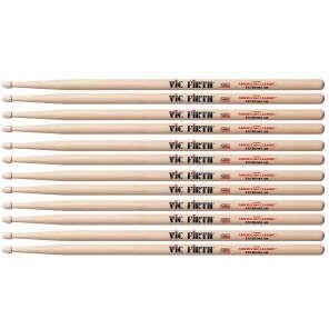Vic Firth X5B Extreme 5B Wood Tip Drum Sticks (6 Pair Bundle)