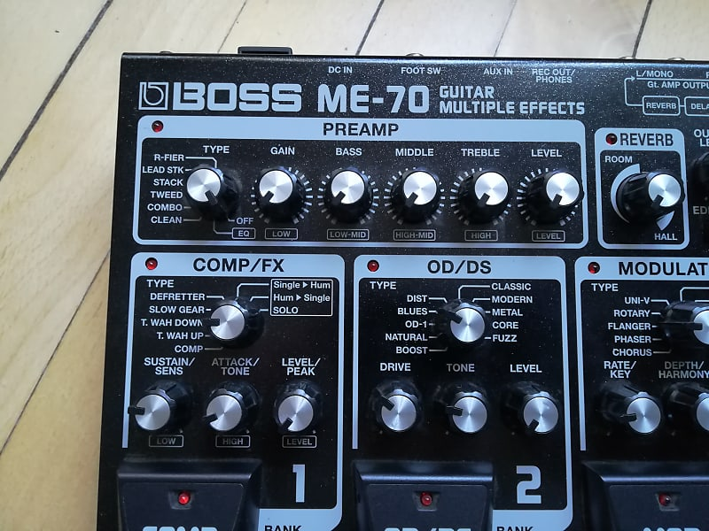 boss me 70 guitar multiple effects wall of sound reverb. Black Bedroom Furniture Sets. Home Design Ideas