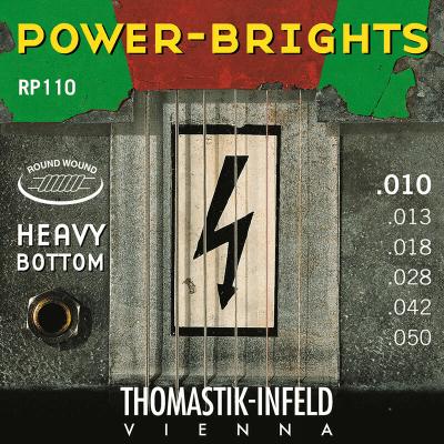 Thomastik-Infeld RP111 Power Brights Heavy Bottom Magnecore Round-Wound Guitar Strings - Medium (.11 - .53)