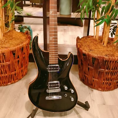 Black MJ Mirage Electric Guitar W/ Sperzel EZ Tuners & Hard Case for sale