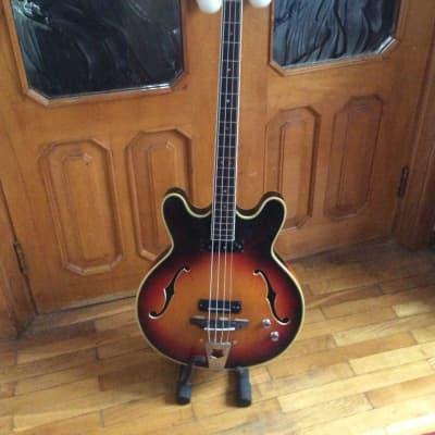 Musima 1657B semihollow bass USSR Germany GDR Vintage Soviet for sale