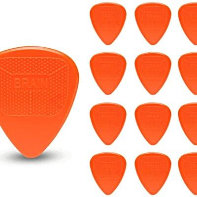 Snarling Dogs Brain Guitar Picks Nylon  1.14mm 13 picks Orange