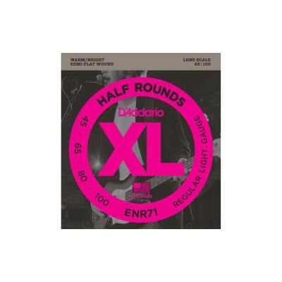 D´Addario ENR71 Half Rounds Semi Flatwound 45-100 Bass Strings