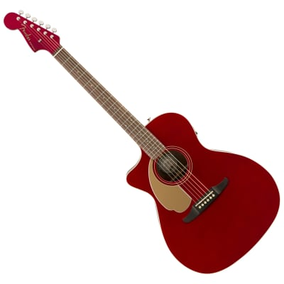 Fender Newporter Player LH Candy Apple Red Acoustic-Electric Guitar