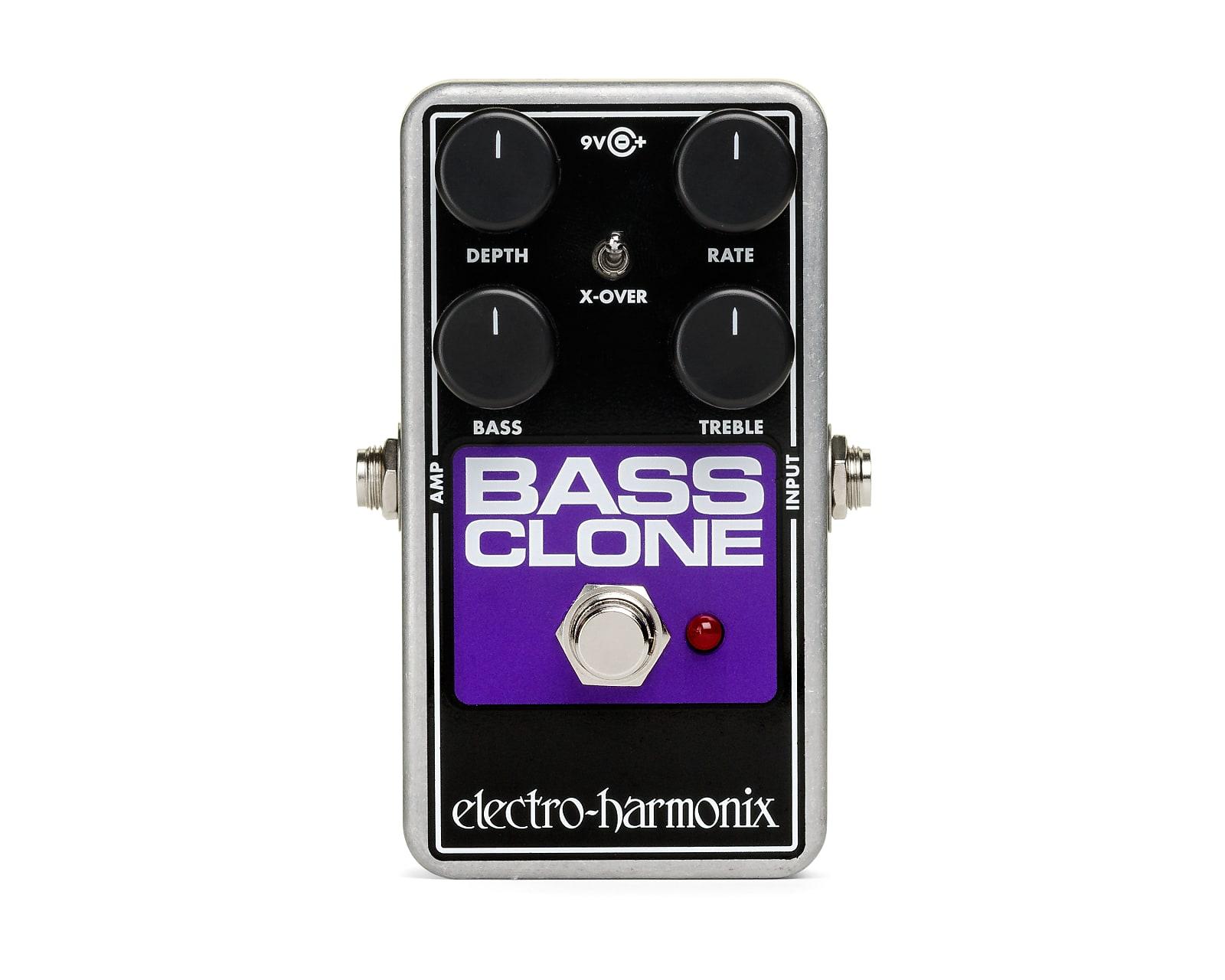 Electro-Harmonix EHX Bass Clone Analog Chorus Effects Pedal