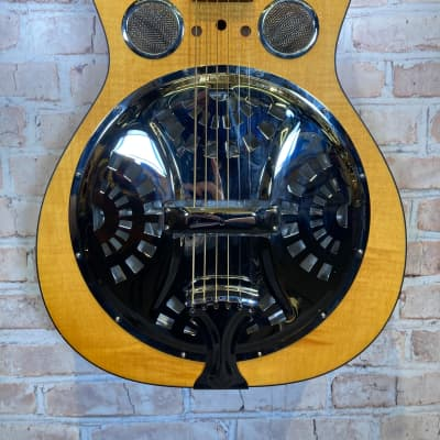 Dobro Hound Dog Deluxe Round Neck Resonator Acoustic-Electric Guitar for sale