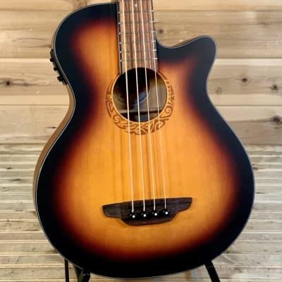 Luna Tribal A/E 34 Acoustic Bass- Tobacco Sunburst for sale