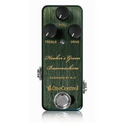 New One Control Hooker's Green Bass Machine Overdrive Bass Guitar Effects Pedal for sale