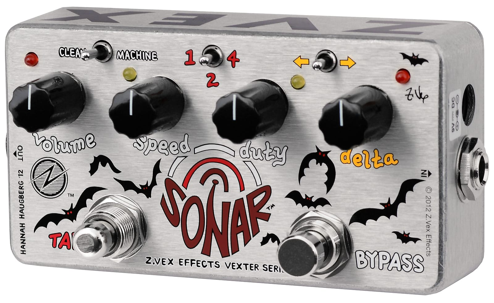 ZVEX Sonar Vexter Series Tremolo / Tap Tempo Effects Pedal