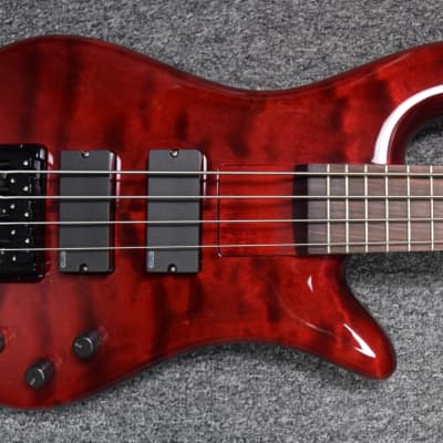 Spector Bantam Short Scale Bass, Black Cherry Gloss