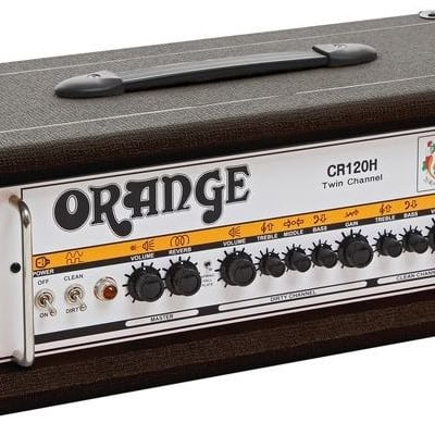 Orange CR120H-BK Solid State 120 Watt Guitar Amp Head in Black