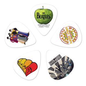 D'Addario 1CWH4-10B3 The Beatles Signature Guitar Picks - Medium (10-Pack)