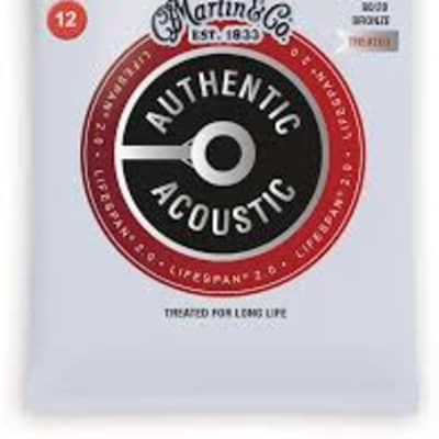 Martin MA140T Lifespan Treated 80/20 Bronze Authentic Acoustic Guitar Strings Light .012-.054