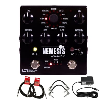 Source Audio SA260 Nemesis Guitar Delay Effects Pedal with Power Supply, Patch & Instrument Cable