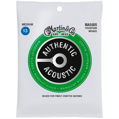 Martin Martin MA550S Marquis Phosphor Bronze Medium Authentic Silked Acoustic Guitar Strings (13-56)