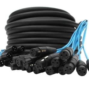 Elite Core Audio PEX16100 16-Channel Fan To Fan XLR Extension Snake Cable - 100'