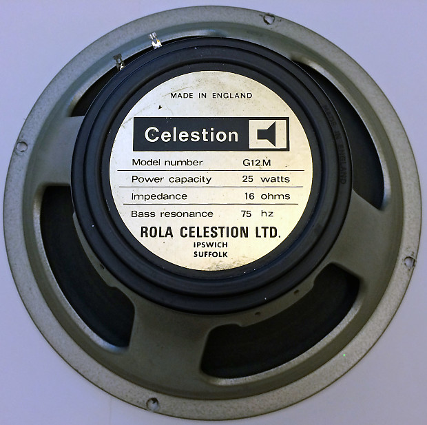 dating Celestion greenbacks