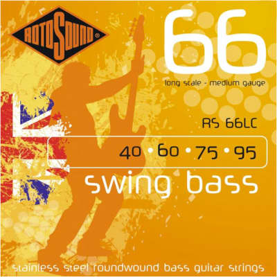 Rotosound RS66LC Long Scale Swing Bass Guitar Strings 40-95