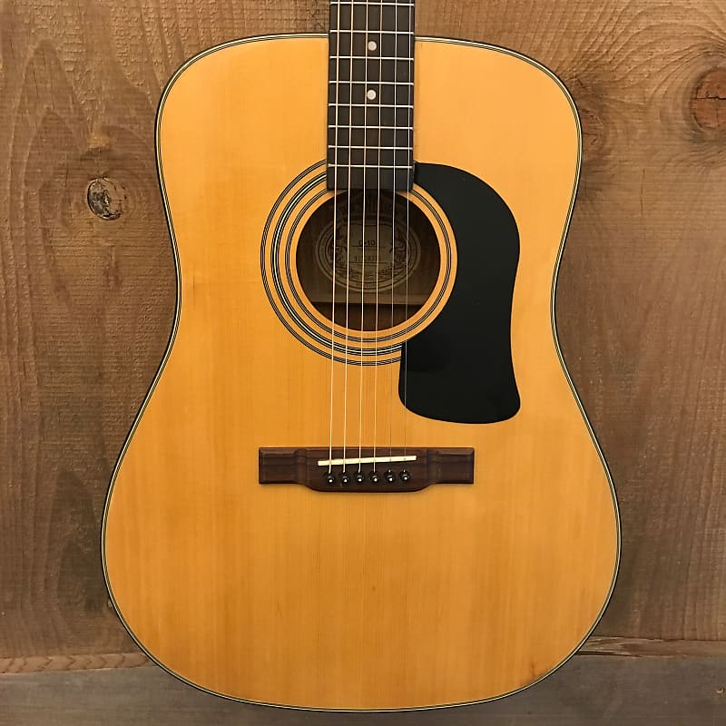 Washburn D-10 I Vintage Dreadnought Acoustic Guitar Natural c. 1980s